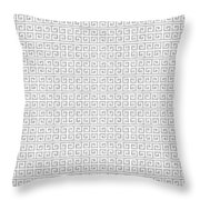 Grey Greek Key Watercolor Pattern Beach Ocean Home Decor Throw Pillow