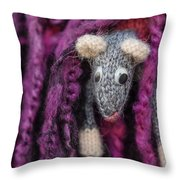 Grey Handmade Mouse Throw Pillow