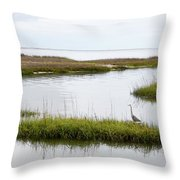 Grey Heron #1 Throw Pillow