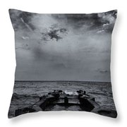 Grey Sun Throw Pillow