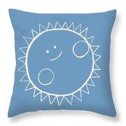 Grey Sun Throw Pillow