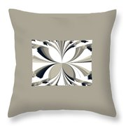 Grey Tone Rooster  Throw Pillow