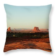 Grey Whiskers And Mitchell Butte Throw Pillow