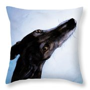 Greyhound - Always There Throw Pillow