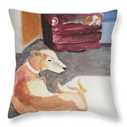 Greyhound And Spaniel Throw Pillow