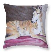 Greyhound Number 2 Throw Pillow