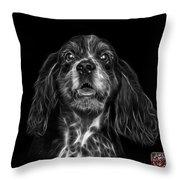 Greyscale Cocker Spaniel Pop Art - 8249 - Bb Throw Pillow