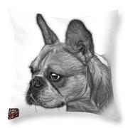 Greyscale French Bulldog Pop Art - 0755 Wb Throw Pillow