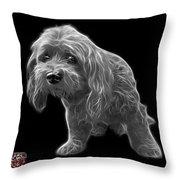 Greyscale Lhasa Apso Pop Art - 5331 - Bb Throw Pillow