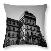 Greystone - Kirkbride Building Throw Pillow