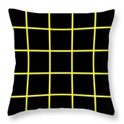 Grid Boxes In Black 05-p0171 Throw Pillow