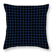 Grid Boxes In Black 18-p0171 Throw Pillow
