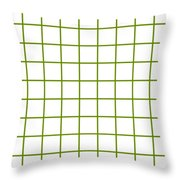 Grid Boxes In White 09-p0171 Throw Pillow