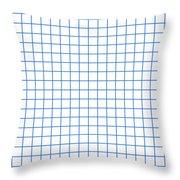 Grid Boxes In White 18-p0171 Throw Pillow
