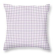 Grid Boxes In White 30-p0171 Throw Pillow