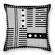 Grid Formal Attire Throw Pillow