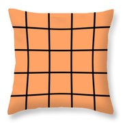 Grid In Black 05-p0171 Throw Pillow