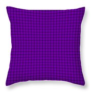 Grid In Black 30-p0171 Throw Pillow