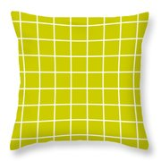 Grid In White 09-p0171 Throw Pillow