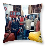 Grid Lock Nyc Throw Pillow