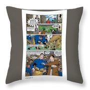 Gridiron The Beginning Page One Throw Pillow
