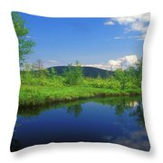 Gridley River Wapack Mountains Throw Pillow