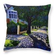Griffith Avenue Through The Trees Throw Pillow