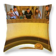 Griffith Observatory - Foucault Pendulum Throw Pillow