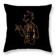 Grillby Throw Pillow