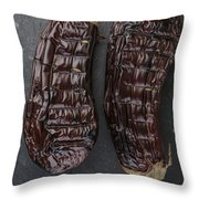 Grilled Aubergine Throw Pillow