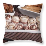 Grilled Champignon Throw Pillow
