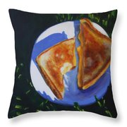 Grilled Cheese Picnic Throw Pillow