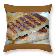 Grilled Sandwhich Throw Pillow