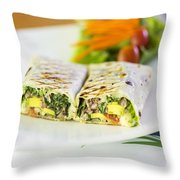 Grilled Vegetable And Salad Wrap Throw Pillow