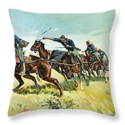 Grimes's Battery Going Up El Pozo Hill Throw Pillow