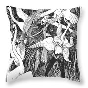Grimm: The Six Swans Throw Pillow