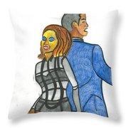 Grinding On Ya Throw Pillow