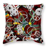 Grinding The Gears Throw Pillow