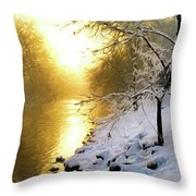 Grings Mill Fog 90-010 Throw Pillow