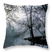 Grings Mill Fog 1043 Throw Pillow