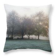 Grings Mill Fog 15-016 Throw Pillow