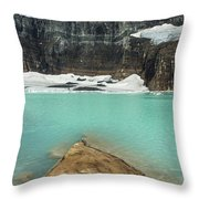 Grinnell And Salamander Glaciers Throw Pillow by Jemmy Archer