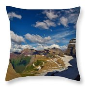 Grinnell Glacier Overlook Throw Pillow
