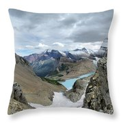 Grinnell Glacier Overlook - Glacier National Park Throw Pillow