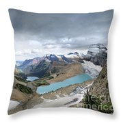 Grinnell Glacier Overlook Vista - Glacier National Park Throw Pillow