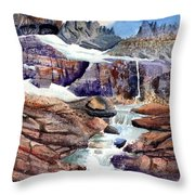 Grinnell Glacier Throw Pillow