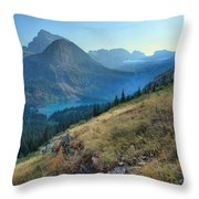 Grinnell Glacier Trail Hiker Throw Pillow