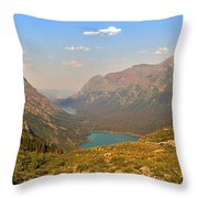 Grinnell Glacier Trail Panorama Throw Pillow