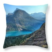 Grinnell Lake - Many Glacier Throw Pillow