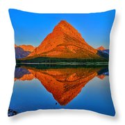Grinnell Point Alpenglow Panorama Throw Pillow